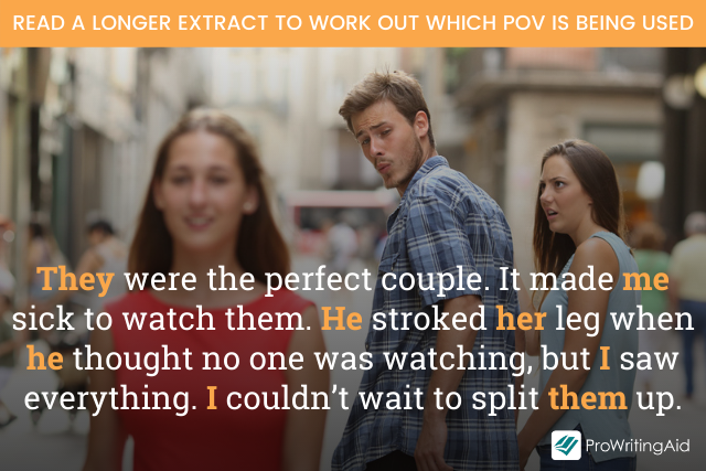 full extract: They were the perfect couple. It made me sick to watch them. He stroked her leg when he thought no one was watching, but I saw everything. I couldn't wait to split them up.
